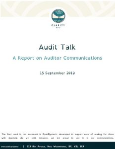 Audit Communications Document